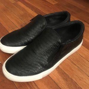 Black platform slip on shoe